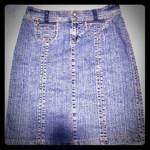 DKNY Jeans Blue Denim Skirt